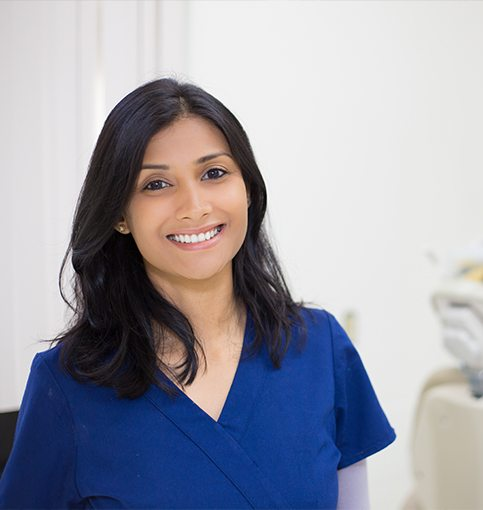 Smiling dental team member